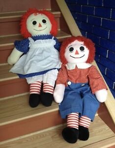 Adorable Huge Raggedy Ann & Andy