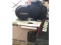 Canon 600D DSLR Camera with lens and accessories. Excellent Condition!