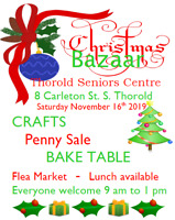 Thorold Seniors Christmas Bazaar