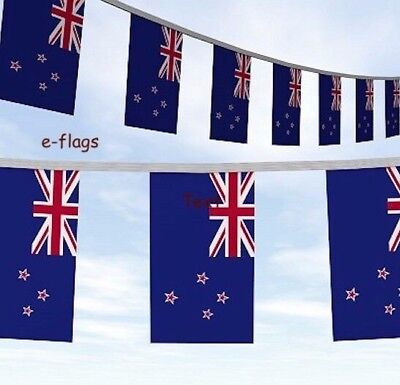 66FT Long NZ New Zealand Kiwi Flag Party Bunting SPEEDY DELIVERY