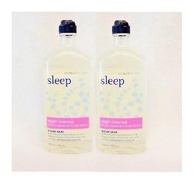 Bad & Body Works Body Wash (2 Bath & Body Works Aromatherapie Schlaf - Nacht Zeit Tee Duschgel Schaum Bad-)