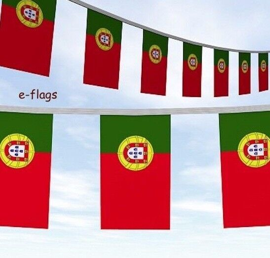 10 Metres Portugal Flags Party Bunting Bandeira de Portugal