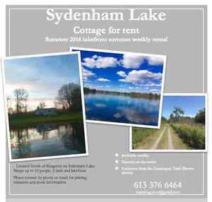 Sydenham lake cottage rental