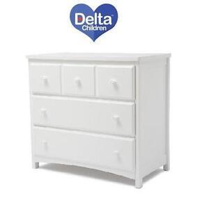 NEW DELTA CHILDREN 3 DRAWER DRESSER WHITE - 3 DRAWER DRESSER 98948175