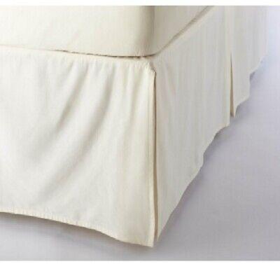 Tailored Bed Skirt Solid Ivory 620 TC Cotton SPLIT Corner Al