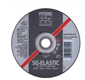 """Pferd 61028 - 5"""" x 1/4"""" type 27 Aluminum Oxide Grinding Wheel"""