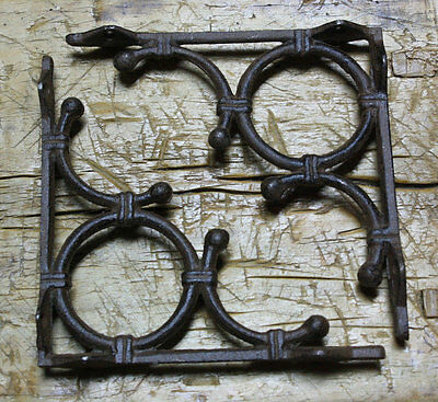 10 Cast Iron Antique Style LIFE RING Brackets Garden Braces Shelf Bracket Bamboo