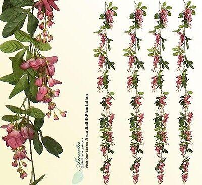 4 Artificial 6' Wisteria Garland Silk Flowers wedding M 4 Artificial Christmas Garland