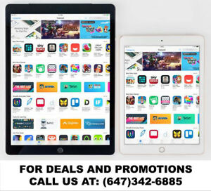 Special Sale on Apple iPad Air 2 , Air, iPad 4, 3, 2! Call Now!