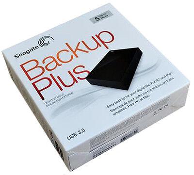 Seagate Backup Plus Desktop External Drive 5TB. AUTHENTIC BRAND. FACTORY SEALED.