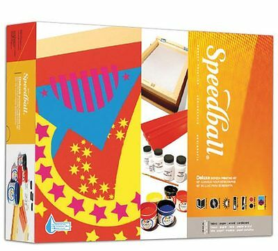 Speedball Deluxe Screen Printing Kit - Fabric, Paper, Card - Everything you need (Fabric Screen Printing Kit)