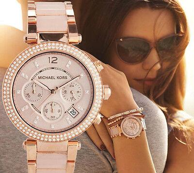 Michael Kors Parker Blush Dial Rose Gold Tone Ladies Watch Mk5896