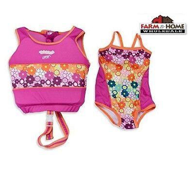 cfa2dd89a7 Girl's 2-Piece Swim Trainer Medium/Large 33-55 lbs ~ New