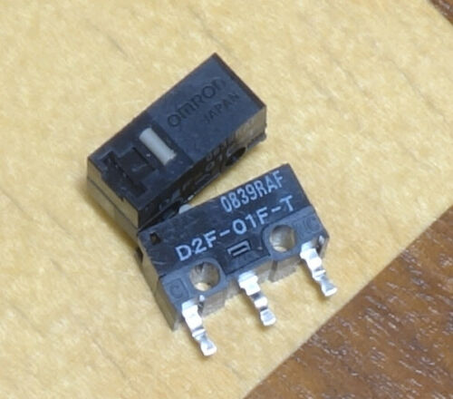 2x OMRON JAPAN D2F-01F-T Mikroschalter | Goldlegierung | self clinching * NEU *