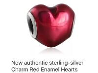 NEW Sterling Silver PANDORA Heart Charm