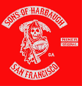 SONS-OF-HARBAUGH-San-Francisco-Jim-49ers-T-Shirt-Large
