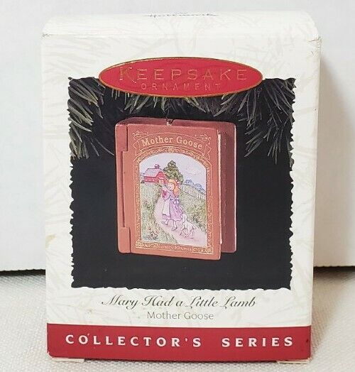 Hallmark Mary Had a Little Lamb Mother Goose Book Ornament 1996 Collector