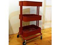 Ikea Raskog Brown/Red Trolley (nice for storage or bar)