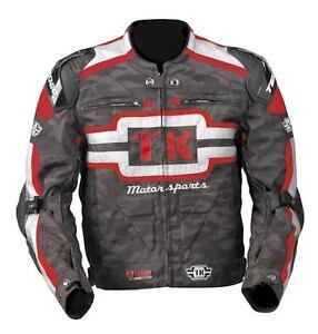 Teknic Freestyle Stunt Jacket Motorbike Camo Red Grey $399.95 Size 46 / 2XL