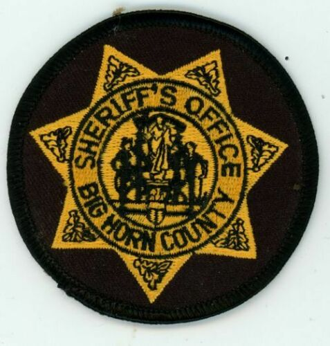 BIG HORN COUNTY SHERIFF WYOMING WY ROUND PATCH 3 INCHES POLICE