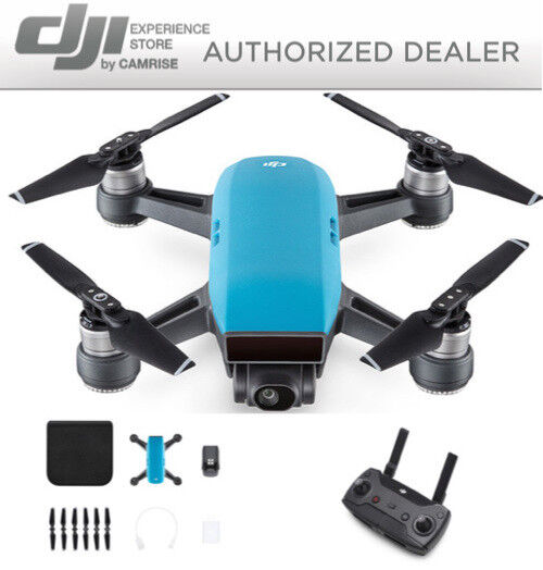 dji-spark-drone-quadcopter-blue-and-dji-remote-controller