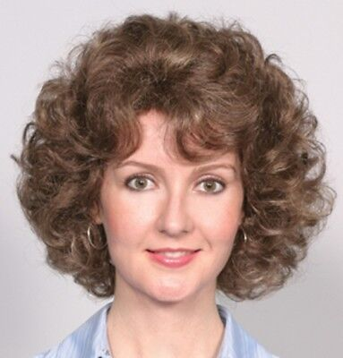 Chin Length Curly Wig - WOMENS SHORT CHIN LENGTH GYPSY PAGE CURLS CURLY WIG W/ BANGS SALLY GOLDEN GIRLS