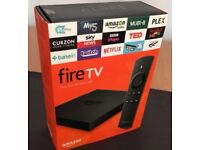 Amazon Fire TV, fully loaded with one of the best builds . Not fire stick or android box