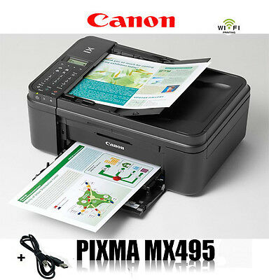 CANON MX495 MULTIFUNKTIONS DRUCKER SCANNER KOPIERER FAX WLAN AIRPRINT * NEU *