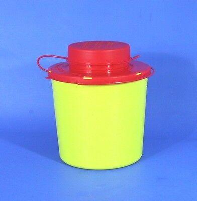 Kanülenabwurf ➤1,5 Liter Entsorgungsbox Kanülensammler Kanülenabwurfbehälter