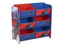 Spiderman Disney kids shelf toy storage As mew