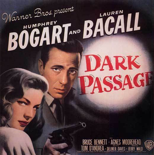 DARK PASSAGE Movie POSTER 30x30 Humphrey Bogart Lauren Bacall Agnes Moorehead