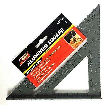 """Aluminum Square Carpenter Speed Miter 7"""" Combination Protractor Framing Alloy"""