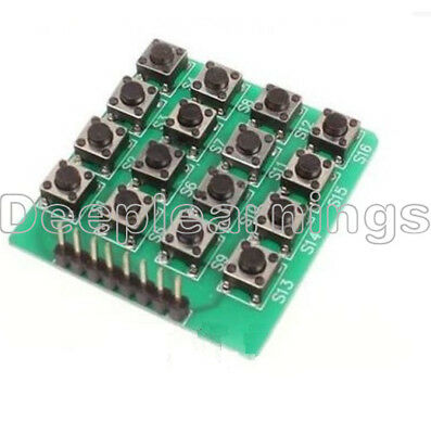4x4 44 Matrix Keypad Keyboard Module 16 Botton Mcu For Arduino Atmel Stmap S12