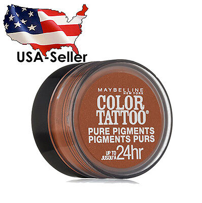 Bronze Pure Eye Shadow (MAYBELLINE - 35 BREAKING BRONZE COLOR TATTOO PURE PIGMENTS EYE SHADOW B2G15%Off)