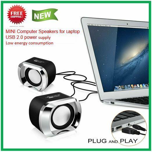 Portable Desktop Laptop Speaker MP3 Cellphone iPod TV Music