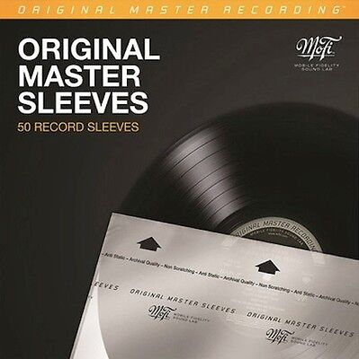 50 Anti Static Mobile Fidelity Sound Labs *Original Master Record Sleeves  *New*