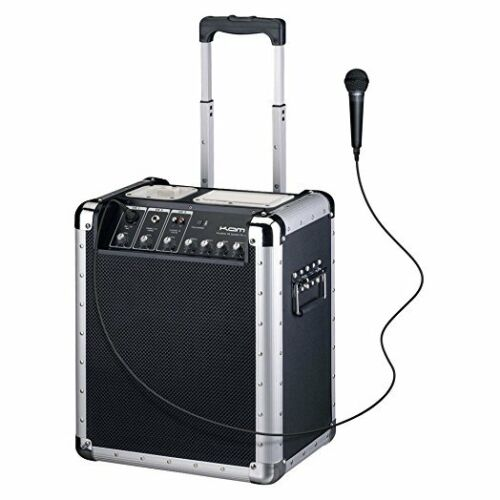 Kam Zoomer 800 Compact IPod PA Speaker Mains or Rechargeable + Mic + 3Ch Mixer