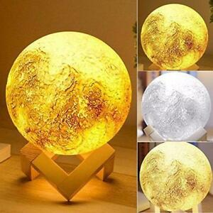beautiful  Rechargeable 3D Print Moon Lamp 2 Color Change (We Pay Shipping )
