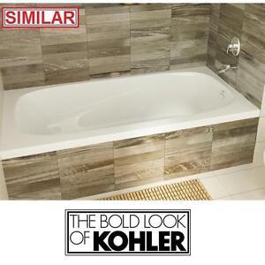 NEW* KOHLER 5' PROFLEX BATHTUB - 116920416 - REVERSIBLE DRAIN WHITE BATH TUB TUBS BATHTUBS SOAKING DROP IN OVAL BASIN