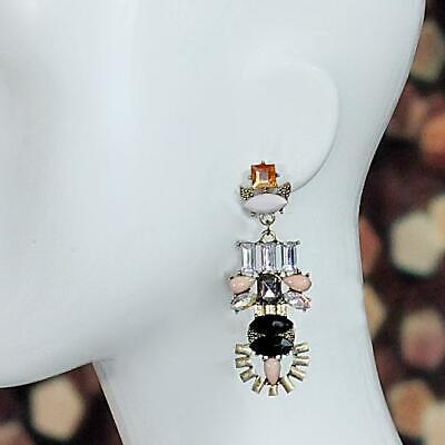 1920s Art Deco Jewelry: Earrings, Necklaces, Brooch, Bracelets Art Deco Style Statement Dangle Earrings $5.49 AT vintagedancer.com