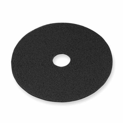 """3M 7200 Stripping Pad, 17"""" in Black (Case of 5) New Damaged Box"""