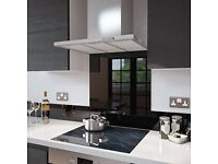 Caple: TSB900BK Black Toughened Glass Splashback. 900 x 750mm. New (in packaging)