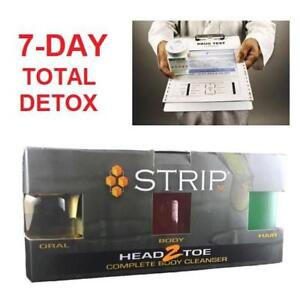 NEW STRIP H2T COMPLETE BODY DETOX 209161876 SUPPLEMENTS ORAL BODY HAIR URINE SALIVA FOLLICLE CLEANSER
