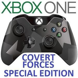 NEW XBOX ONE WIRELESS CONTROLLER - 106599823 - BLUETOOTH COMPATIBLE SPECIAL EDITION COVERT FORCES VIDEO GAMES