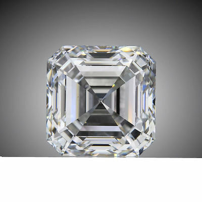 2.01 carat ASSCHER cut DIAMOND GIA G color VS1 clarity no flour. EXCELLENT loose