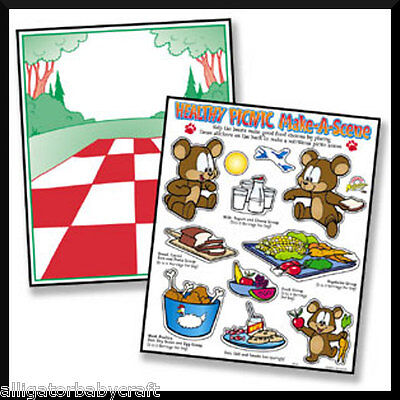 24 Stickers! TWO Teddy Bear's Picnic Sticker Scenes ABCraft Kids Girls Party](Teddy Bear Picnic Party)