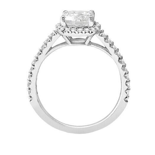 GIA Certified Diamond Engagement Ring 1.30 carat Cushion Shape 14K White Gold  2