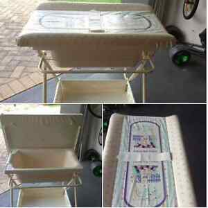 Metal baby bath and change table in one Wakerley Brisbane South East Preview