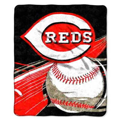 MLB LICENSED NWT CINCINNATI REDS BIG STICK RASCHEL PLUSH BLANKET THROW 60X50 (Mlb Licensed Big Stick)