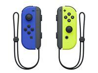 Nintendo switch joy cons neon yellow blue